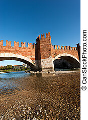 Castelvecchio Bridge - Verona Italy - The ancient Scaligero...