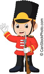 British guardsman cartoon - illustration of British...