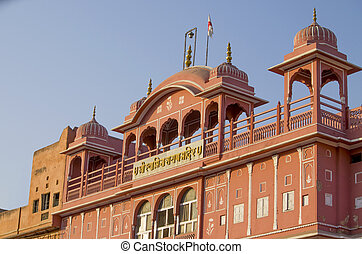 Architecture of the pink city of Jaipur in India