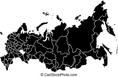 Map of Russia isolated on white background - Vector map...