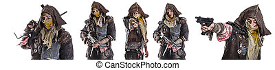 Set of post apocalypse survivors - Set of nuclear post...