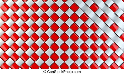 Red and white stripes transition clip. Use this to create a...