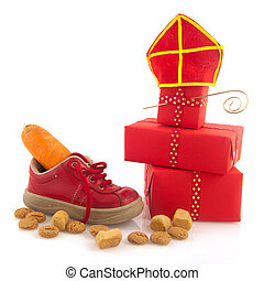 Sinterklaas ginger nuts - Shoe with carrot for horse of...