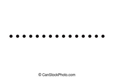 dotted line simple shape vector symbol icon design....