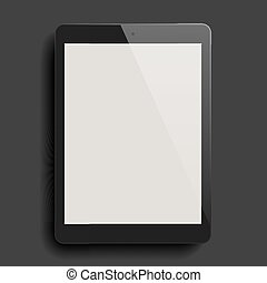 Background with blank tablet computer