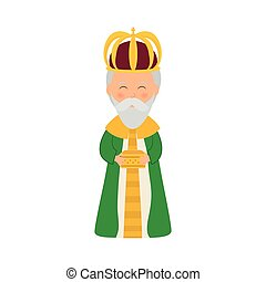 Three wise man cartoon icon vector illustration graphic...