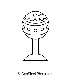 Golden chalice isolated icon vector illustration graphic...