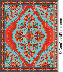 Colorful template for carpet. - Oriental abstract ornament....