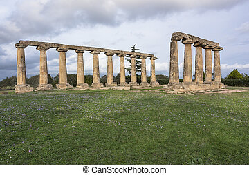 Palatine Tables, Hera Sanctuary in Metaponto, Basilicata,...
