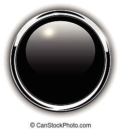 Buttons shiny metallic - Button shiny black, chrome...