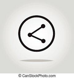 share icon,vector illustration
