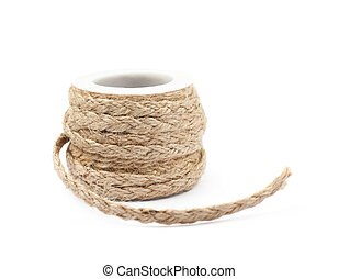 Decorational rope string on a bobbin