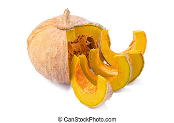 pumpkin on white back ground. - pumpkin on white back ground