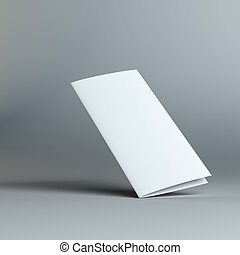 Stationary positioned two fold paper brochure - Stationary...