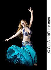 Beauty woman in dance