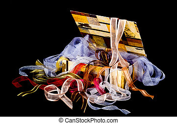 Box of Ribbons - Beautiful box overflowing with colorful...