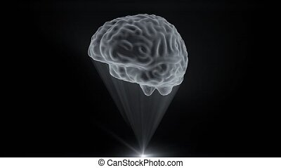 Brain hologram holographic projection projector sci-fi...