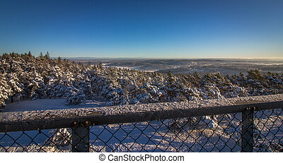 Vetatoppen, view from the tower in Fredrikstad, Norway....