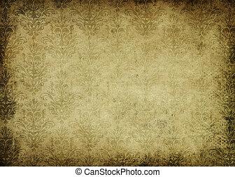 Årgång, papper,  grunge, bakgrund, mönster