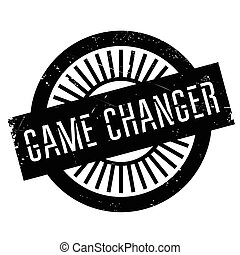 Game changer stamp. Grunge design with dust scratches....