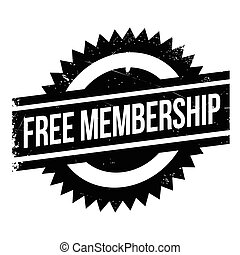 Free membership stamp. Grunge design with dust scratches....