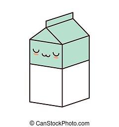 kawaii box carton milk juice