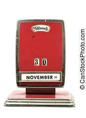 perpetual calendar - old perpetual calendar in German...
