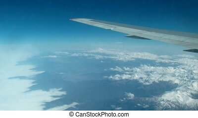 View from a plane window