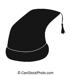Nightcap icon in black style isolated on white background....