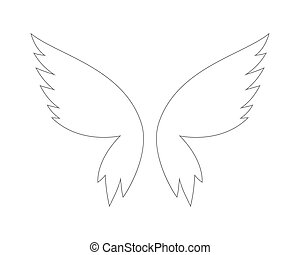 Vector fantasy butterfly wings isolated on white