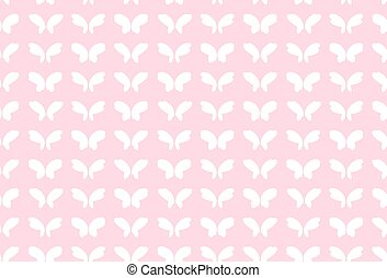 Vector fantasy butterfly wings, seamless pattern