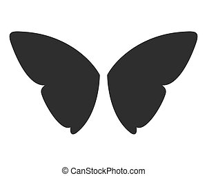 Vector fantasy butterfly wings isolated on white.