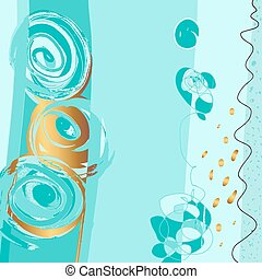 abstract painting background, digital art vector...