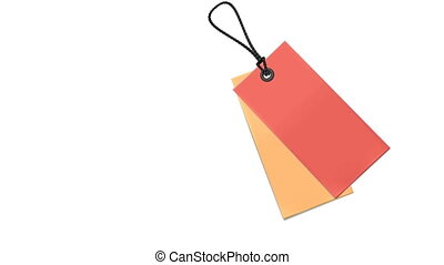 Blank tag animation - Animation Blank red and yellow tag on...