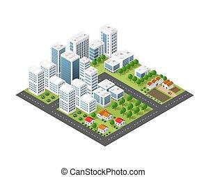 Isometric perspective city