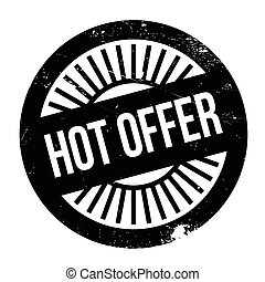 Hot offer stamp. Grunge design with dust scratches. Effects...