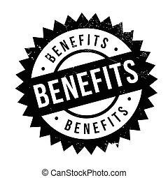 Benefits stamp rubber grunge - Benefits stamp. Grunge design...
