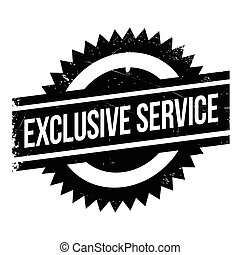 Exclusive service stamp. Grunge design with dust scratches....