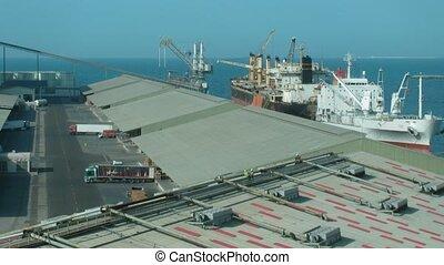 Brisk work in port