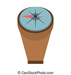 compass marine localization tool vector illustration eps 10