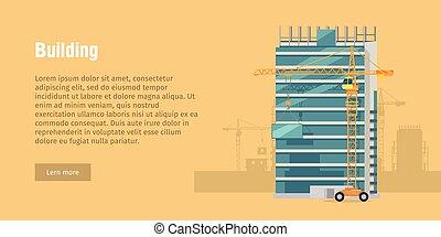 建物, 新しい, 建設すること, 現代, 建物