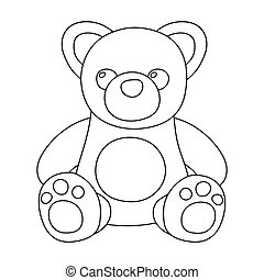 Toys donation icon in outline style isolated on white...