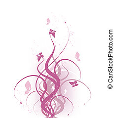 Floral design - Vector beauty floral design