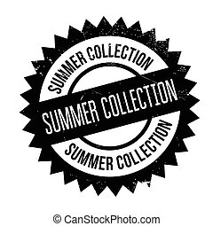Summer collection stamp. Grunge design with dust scratches....