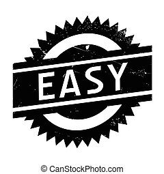 Easy rubber stamp - Easy stamp. Grunge design with dust...