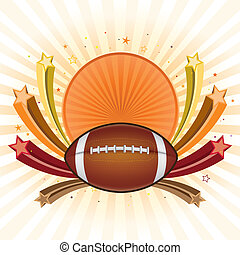 american football background - football design element and...