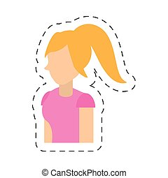 people casual woman icon image, vector illustration