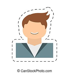 people casual man icon image, vector illustration