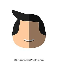 people face casual man icon image, vector illustration