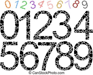 shaped colored numbers